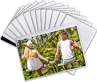 DIYSELF Magnetic Picture Frames for Refrigerato Black Magnetic Photo Pocket for Fridge