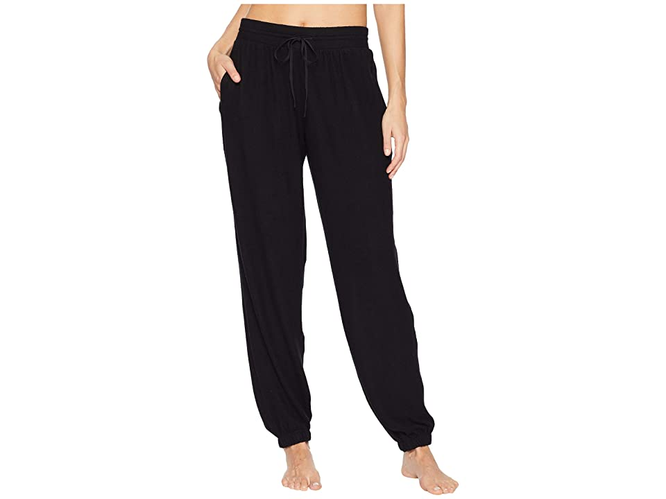 Donna Karan Sweater Jersey Jogger Pants (Black) Women