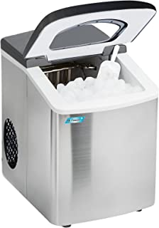 Mr. Freeze MIM-18 Maxi-Matic Portable Ice Maker with Lid, Black (Stainless Steel)