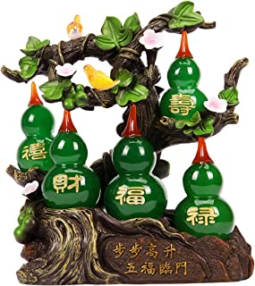 オーナメントデスクトップ 呉Lou Statue Feng Shui Taoisis Disity Huluの装飾繁栄の良い運ょうごい風水宝宝暮らし家の装飾 デスクトップクラフト (Color : Yellow)