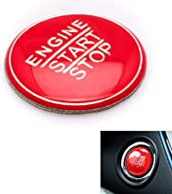 Xotic Tech Red Keyless Engine Start Stop Push Button Cover Trim for Lexus GS ES is RC 2014+ NX RX 2016+