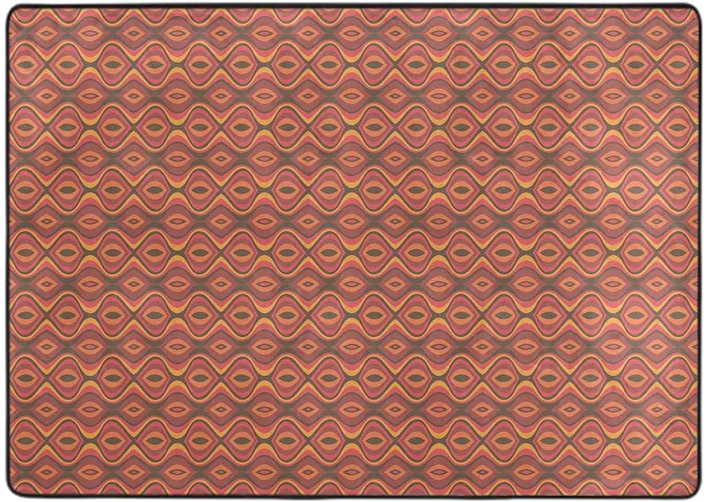 Long-awaited Carpet for Bedroom Folk Horizontal Hip Wavy Branded goods Stripes Traditional