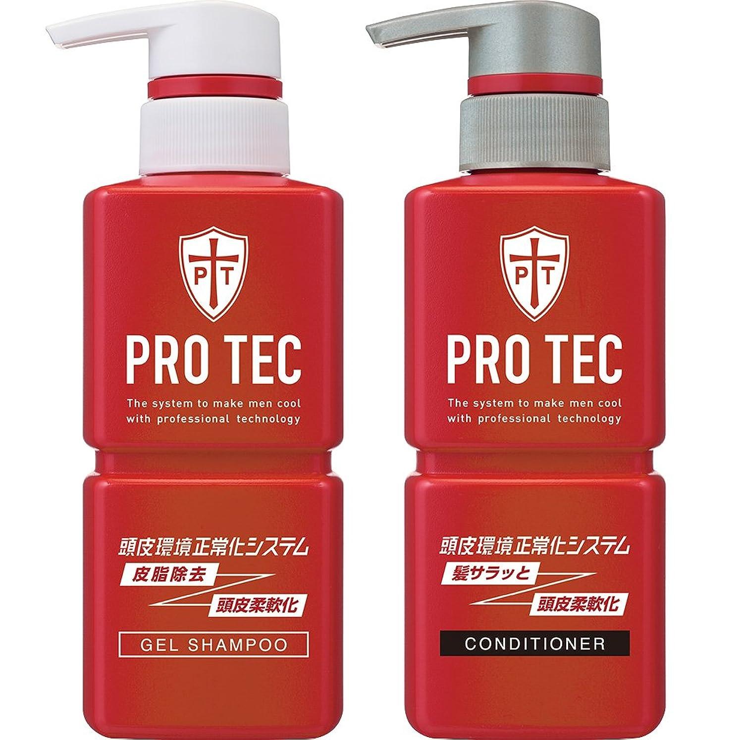 絶滅させるマウントバンクヨーグルトPRO TEC(プロテク) 頭皮ストレッチ シャンプー ポンプ 300g(医薬部外品)+ コンディショナー ポンプ 300g