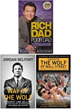 Rich Dad Poor Dad, Way of the Wolf, The Wolf of Wall Street Collection 3 Books Set