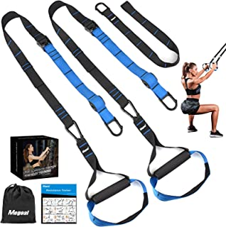 Megoal Resistance Bands Set with Handles, Workout Bands Resistance for Women Men, Fitness Resistance Straps Trainer Exercise Bands Bodyweight Training Kit for Full Body Home Gym Indoor Outdoor