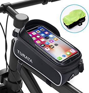 TURATA Bike Bags Bicycle Front Frame Bag Waterproof...