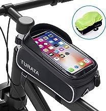 کیسه دوچرخه TURATA کیسه دوچرخه قاب جلو کیسه ضد آب دوچرخه سواری بالا صفحه لپ تاپ لمسی صفحه نمایش آفتاب گردان بزرگ با ظرفیت بالا دارنده تلفن همراه مناسب تلفن زیر 6.5 اینچ