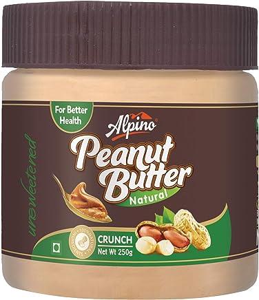 Alpino Crunch Natural Peanut Butter, 250g