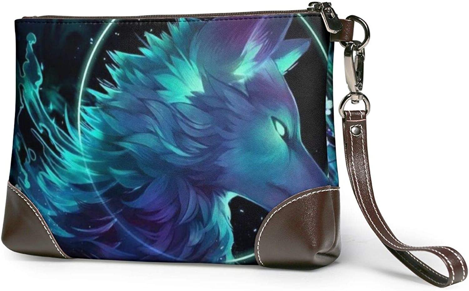 Anime Wolf Clutch Cheap sale Purses Wristlet Leather Wallet Some reservation H