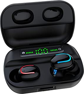 $36 » Sponsored Ad - HaoTuo Q82 TWS Bluetooth 5.0 Mini Twins Earbuds Waterproof IPX7 Wireless Stereo Earbuds with Charging Box (...