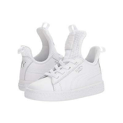 Puma Kids Basket Fierce EP AC (Toddler) (Puma White/Puma White) Kids Shoes