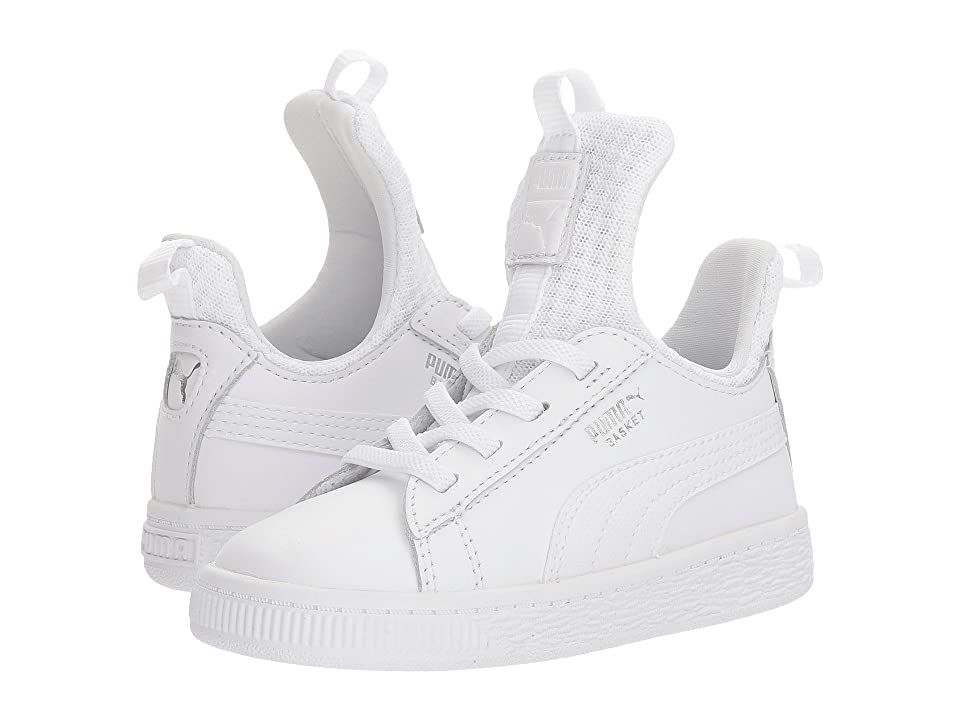 Puma Kids Basket Fierce EP AC (Toddler) (Puma White/Puma White) Kids Shoes