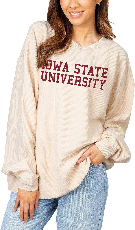 信託 chicka-d NCAA womens Corded 期間限定 Crew Pullover Sweatshirt