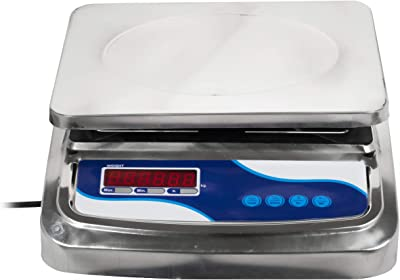 """Weight Palace Digital Weighing """"Table Top"""" Machine Scale for Shop, 30 kg, Silver"""