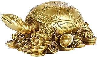 JJDSN Adornos de Escultura de Tortuga de Cobre Puro, Estatua de Animal de Tortuga de Dinero de latón, estatuillas de Tortu...