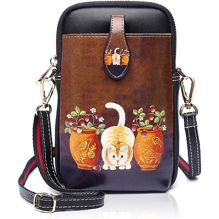 YOVIEE Damen Mini Handy Umhängetasche Kleine Handtasche Handytasche PU-Leder Kleine Schultertasche Mädchen Frauen Crossbody Taschen Handy Geldbeutel Geldbörse für Mädchen (163-0054)
