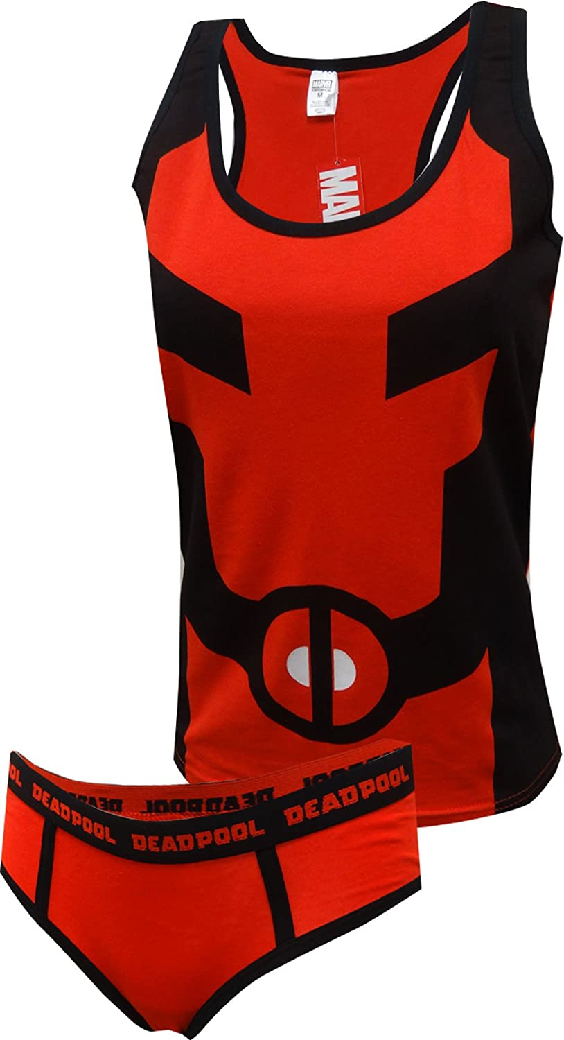 MJC Women's Sales of SALE items from new works Marvel Comics 2021 model Deadpool Tank Set Hipster Panty