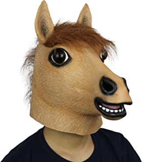 FantasyParty Novelty Halloween Costume Party Animal Realistic Horse Head Mask