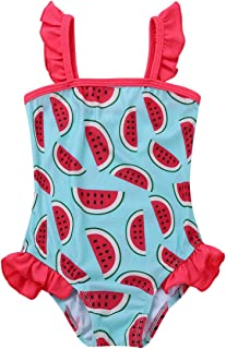 f20db855c6 iiniim Infant Baby Girls One-Piece Cute Watermelon Printed Ruffle Swimsuit  Swimwear Bathing Suit