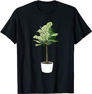 Fiddle Leaf Fig Plant Ficus Lyrata Lyre Epiphyte Plant Mom T-Shirt