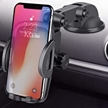 Car Phone Mount, 2in1 Windshield Dashboard Cell Phone Holder - Universal Smartphone Car Mount Holder for iPhone Xs Max/Xs/XR/X/8/8 Plus/7/7 Plus/5S, Galaxy S9+/S9/S8/S7 and More