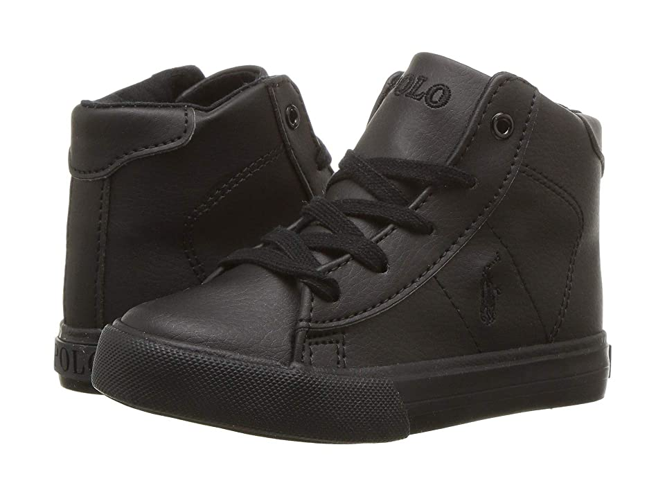 Polo Ralph Lauren Kids Easten Mid (Toddler) (Triple Black Tumbled) Boy