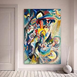 VCFHU Wassily Kandinsky Pintura Al óLeo Abstracta Lienzo Colorido Arte De La Pared Poster Modernos Impresiones Salon De Es...