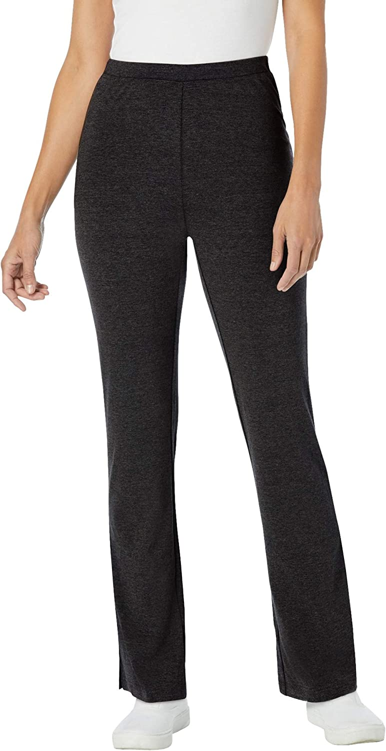 Woman Within Max 47% OFF Women's Plus Size Yoga Pant Cotton Stretch Super sale Bootcut