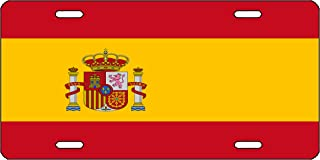 Rogue River Tactical Spanish Flag License Plate Novelty Auto Car Tag Vanity Gift Spain