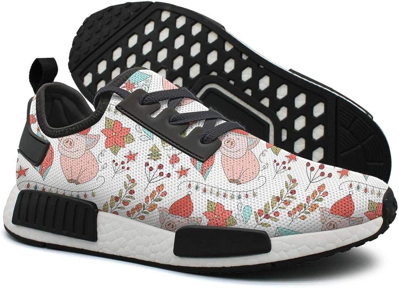 Pduiqo Christmas New Pink Cute Pig Nose Women's Climbing Lightweight Tennis Sneakers Gym Outdoor Walking shoes