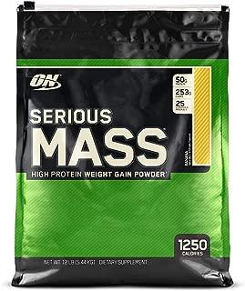 OPTIMUM NUTRITION Serious Mass Weight Gainer Protein Powder, Banana, 12 Pound