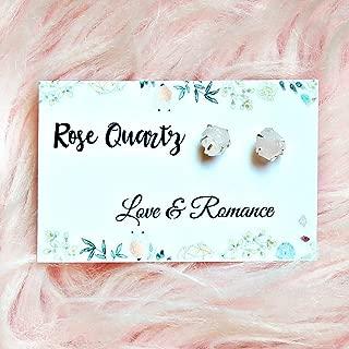 raw quartz stud earrings