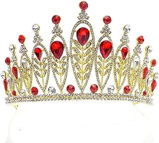 Dongyu Corona, Lussuoso Cristallo Scintillante for La Sposa della Sposa Prom Queen Beauty Concorsi Accessori for Capelli (...