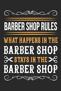 Barber Shop Rules: Journal - Notebook