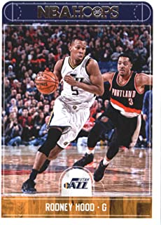 2017-18 NBA Hoops #86 Rodney Hood Utah Jazz Official Basketball Card made by Panini