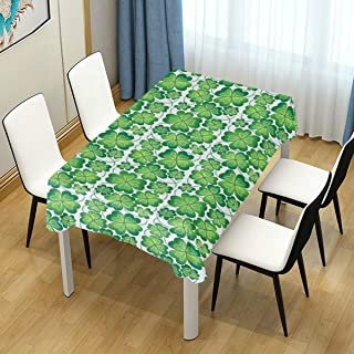 WIHVE St Patrick's Day Table Cloth 60 x 108 Inch, St Patrick's Day Green Shamrock Clover Decorative Rectangle Tablecloths for Great for Buffet Table Parties Holiday Dinner Wedding