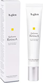 b.glen QuSome RetinoA | Retinol (Vitamin A) | Retinoic Acid Tocopheryl (Vitamins A & E) | Squalane | Organic Shea Butter | Anti-Aging Serum from Japan | Repair Wrinkles | Firms Skin | (15g/0.53oz.)