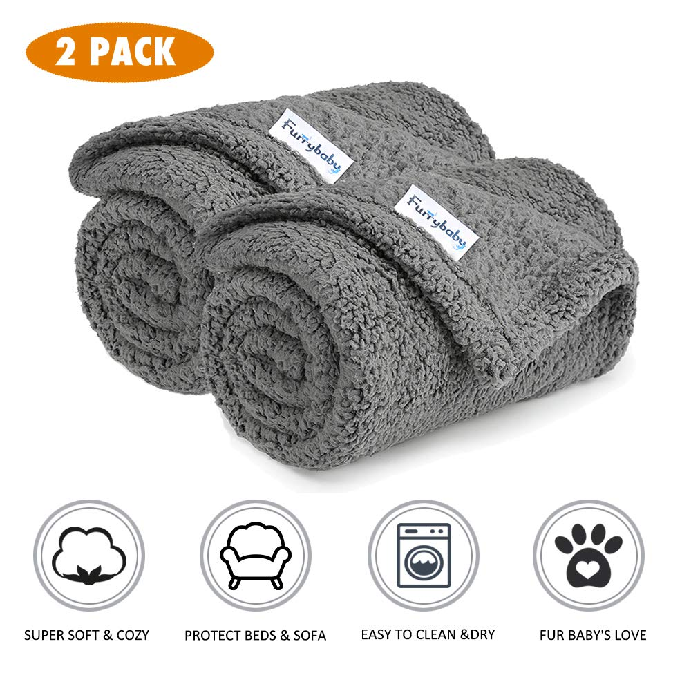 Premium Fluffy Fleece Blanket 2 Pack