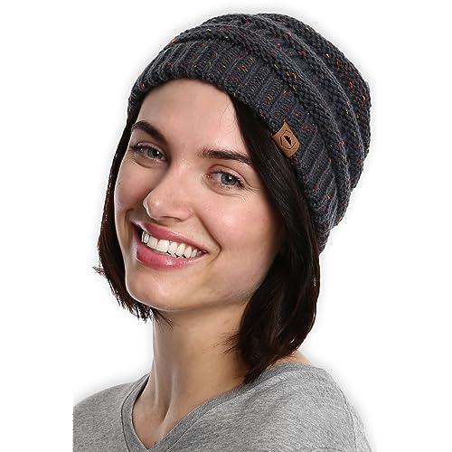 36159d28513 Tough Headwear Cable Knit Beanie - Thick