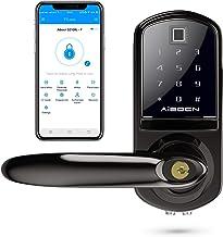 Door Lock Smart Security Home for School Locker Anti-Theft Bicaquu Touch Screen Door Lock Code Door Lock Bluetooth Lock APP WiFi Handle Door Lock