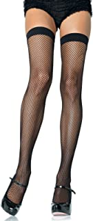 Leg Avenue Women's Nylon Fishnet Thigh Highs