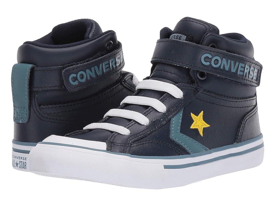 e82e108be12f Converse Kids Pro Blaze Strap Hi (Little Kid Big Kid) (Obsidian Celestial  Teal Bold Citron) Boy s Shoes