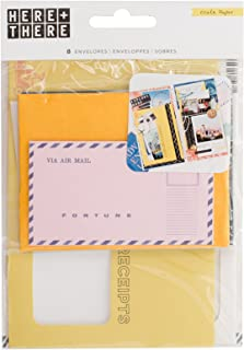 Crate Paper 8 Piece Ephemera Envelopes Here & There Embellishments