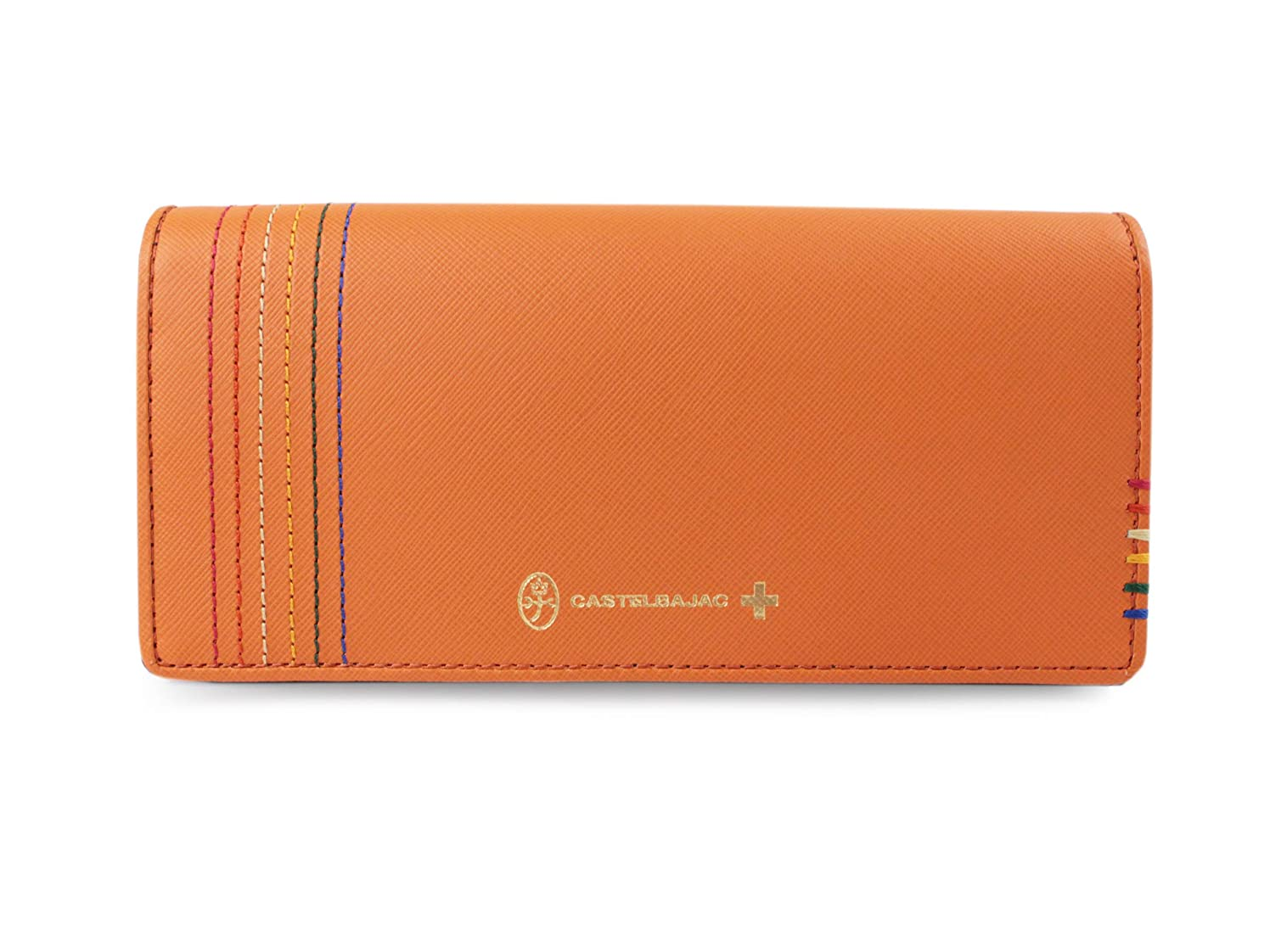 木製断線下るカステルバジャック (CASTELBAJAC) 長財布 シェスト 027604 (オレンジ)
