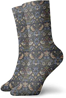 Socks William Morris Strawberry Thief Moisture Wicking Cushion Colorful Funny No Show Low Cut Crew Socks For Sport Hiking Working Unisex