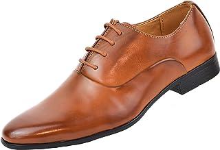 9e1233e3 Zapatos Oxford Hombre con Cordones para Vestir de Negocios Boda Traje Formal