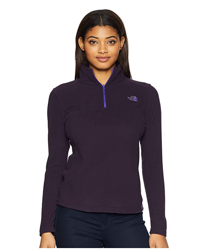 The North Face Glacier 1/4 Zip Fleece Top (Galaxy Purple) Women