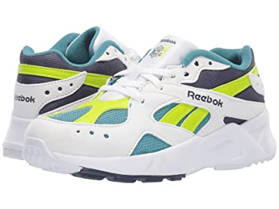 Reebok Kids Aztrek (Little Kid) (White/Navy/Mist/Lime) Boys Shoes