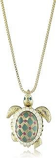 Women's Sea Excursion Long Necklace with Turtle Pendant
