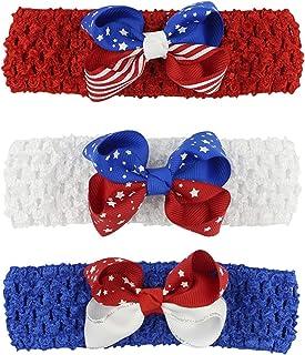 ربطات راس للاطفال من 3 عبوات، اكسسوارات مشابك شعر للبنات الصغار، ربطة راس مع فيونكات للرضع